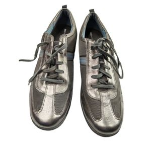 Rockport Metallic Mesh Lace Up Sneakers 10